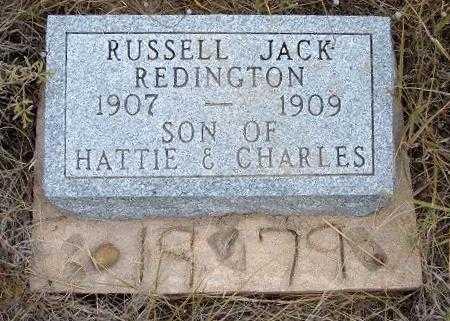 REDINGTON, RUSSELL JACK - Kearny County, Kansas | RUSSELL JACK REDINGTON - Kansas Gravestone Photos