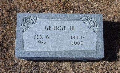 SAUER, GEORGE W  (VETERAN WWII) - Kearny County, Kansas   GEORGE W  (VETERAN WWII) SAUER - Kansas Gravestone Photos