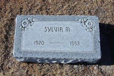 SAUER, SYLVIA M - Kearny County, Kansas | SYLVIA M SAUER - Kansas Gravestone Photos