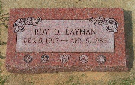 LAYMAN , ROY O (VETERAN WWII) - Kingman County, Kansas | ROY O (VETERAN WWII) LAYMAN  - Kansas Gravestone Photos