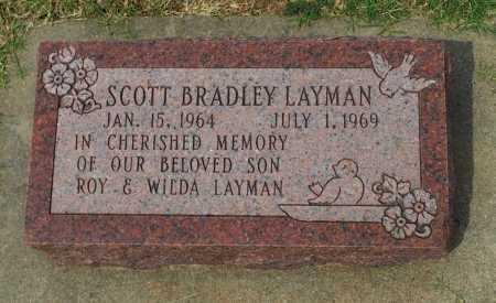 LAYMAN, SCOTT BRADLEY - Kingman County, Kansas | SCOTT BRADLEY LAYMAN - Kansas Gravestone Photos