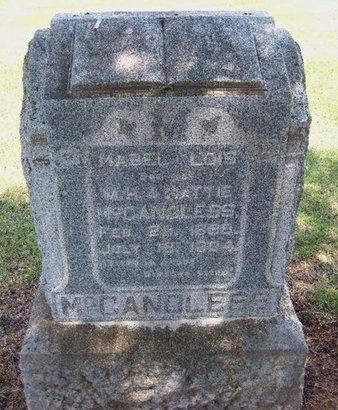 MCCANDLESS, MABEL LOIS - Kingman County, Kansas | MABEL LOIS MCCANDLESS - Kansas Gravestone Photos