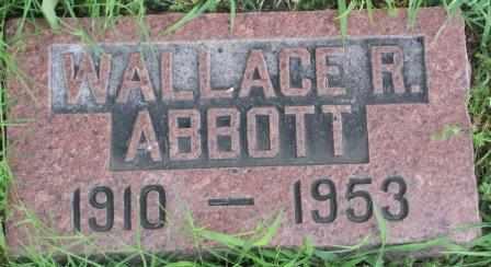 ABBOTT, WALLACE R - Labette County, Kansas   WALLACE R ABBOTT - Kansas Gravestone Photos