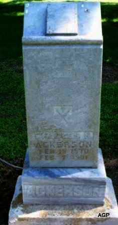 ACKERSON, CHARLES HENRY - Labette County, Kansas | CHARLES HENRY ACKERSON - Kansas Gravestone Photos