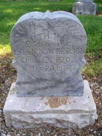 ACKERSON, RUTH MAY - Labette County, Kansas | RUTH MAY ACKERSON - Kansas Gravestone Photos