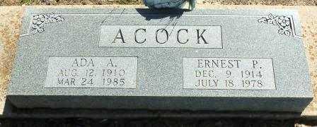 ACOCK, ERNEST P - Labette County, Kansas | ERNEST P ACOCK - Kansas Gravestone Photos