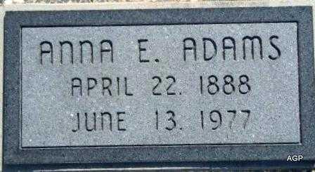 MCCALISTER ADAMS, ANNA ELIZABETH - Labette County, Kansas | ANNA ELIZABETH MCCALISTER ADAMS - Kansas Gravestone Photos