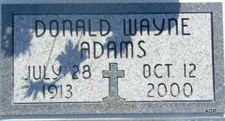 ADAMS, DONALD WAYNE - Labette County, Kansas | DONALD WAYNE ADAMS - Kansas Gravestone Photos