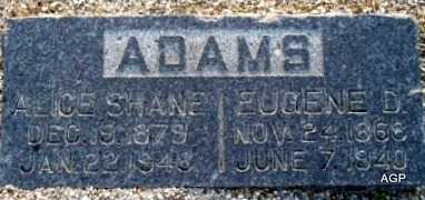 ADAMS, EUGENE D - Labette County, Kansas | EUGENE D ADAMS - Kansas Gravestone Photos