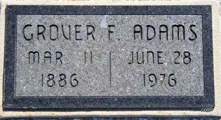 ADAMS, GROVER FRANKLIN - Labette County, Kansas   GROVER FRANKLIN ADAMS - Kansas Gravestone Photos
