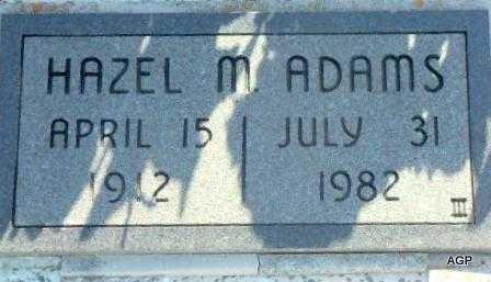 ADAMS, HAZEL M - Labette County, Kansas | HAZEL M ADAMS - Kansas Gravestone Photos