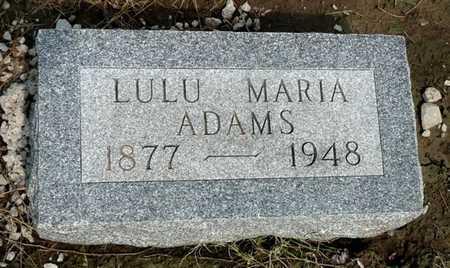 ADAMS, LULU MARIA - Labette County, Kansas | LULU MARIA ADAMS - Kansas Gravestone Photos