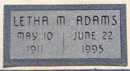 ADAMS, LETHA M - Labette County, Kansas | LETHA M ADAMS - Kansas Gravestone Photos