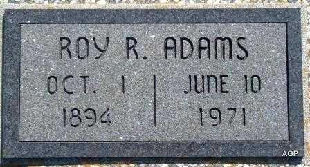 ADAMS, ROY R - Labette County, Kansas   ROY R ADAMS - Kansas Gravestone Photos