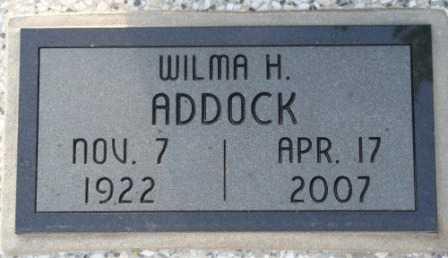HAGAN ADDOCK, WILMA H  (VETERAN WWII) - Labette County, Kansas | WILMA H  (VETERAN WWII) HAGAN ADDOCK - Kansas Gravestone Photos