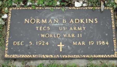 ADKINS, NORMAN B   (VETERAN WWII) - Labette County, Kansas   NORMAN B   (VETERAN WWII) ADKINS - Kansas Gravestone Photos