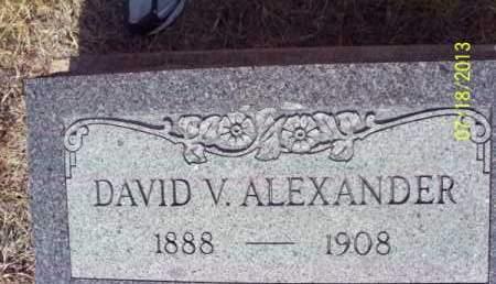 ALEXANDER, DAVID V - Labette County, Kansas | DAVID V ALEXANDER - Kansas Gravestone Photos