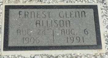 ALLISON, ERNEST GLENN - Labette County, Kansas | ERNEST GLENN ALLISON - Kansas Gravestone Photos