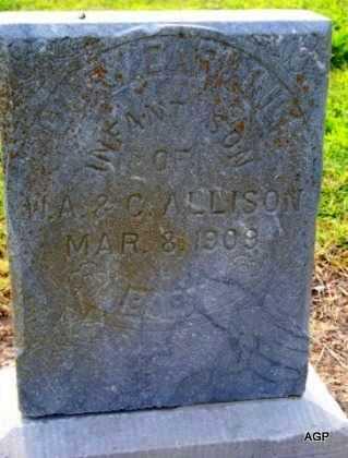 ALLISON, INFANT SON - Labette County, Kansas | INFANT SON ALLISON - Kansas Gravestone Photos
