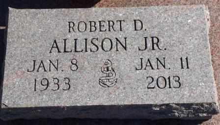 ALLISON, ROBERT D, JR   (VETERAN) - Labette County, Kansas | ROBERT D, JR   (VETERAN) ALLISON - Kansas Gravestone Photos