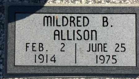 ALLISON, MILDRED B - Labette County, Kansas | MILDRED B ALLISON - Kansas Gravestone Photos