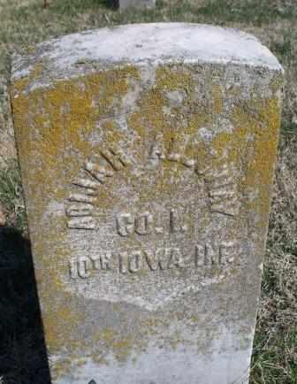 ALLOWAY, ABIJAH  (VETERAN UNION) - Labette County, Kansas | ABIJAH  (VETERAN UNION) ALLOWAY - Kansas Gravestone Photos