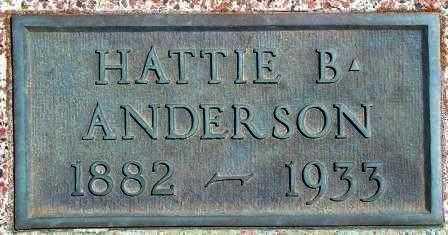 ANDERSON, HATTIE B - Labette County, Kansas   HATTIE B ANDERSON - Kansas Gravestone Photos