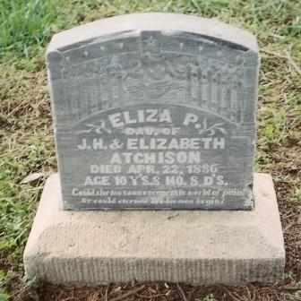 ATCHISON, ELIZA P - Labette County, Kansas | ELIZA P ATCHISON - Kansas Gravestone Photos