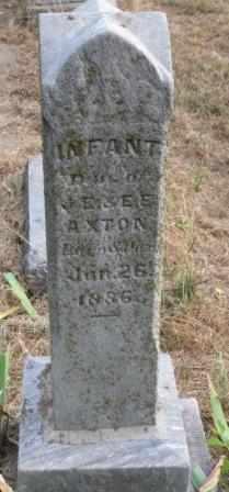 AXTON, INFANT DAUGHTER - Labette County, Kansas | INFANT DAUGHTER AXTON - Kansas Gravestone Photos