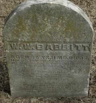 BABBITT, W W - Labette County, Kansas   W W BABBITT - Kansas Gravestone Photos