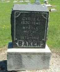 BAKER, CYRUS E - Labette County, Kansas | CYRUS E BAKER - Kansas Gravestone Photos