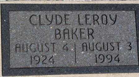 BAKER, CLYDE LEROY - Labette County, Kansas | CLYDE LEROY BAKER - Kansas Gravestone Photos