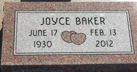 BAKER, JOYCE E - Labette County, Kansas | JOYCE E BAKER - Kansas Gravestone Photos
