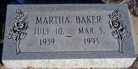 BAKER, MARTHA - Labette County, Kansas   MARTHA BAKER - Kansas Gravestone Photos