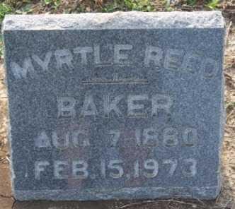 REED BAKER, MYRTLE  E - Labette County, Kansas | MYRTLE  E REED BAKER - Kansas Gravestone Photos