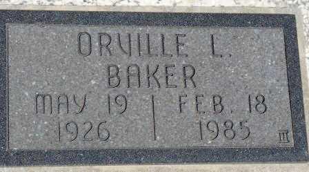 BAKER, ORVILLE L - Labette County, Kansas   ORVILLE L BAKER - Kansas Gravestone Photos