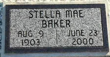 BAKER, STELLA MAE - Labette County, Kansas | STELLA MAE BAKER - Kansas Gravestone Photos