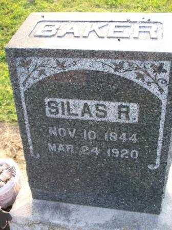 BAKER, SILAS R - Labette County, Kansas   SILAS R BAKER - Kansas Gravestone Photos