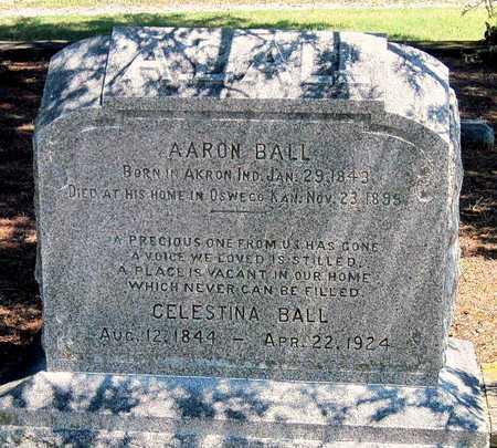 BALL, AARON - Labette County, Kansas   AARON BALL - Kansas Gravestone Photos