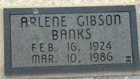 GIBSON BANKS, ARLENE - Labette County, Kansas   ARLENE GIBSON BANKS - Kansas Gravestone Photos
