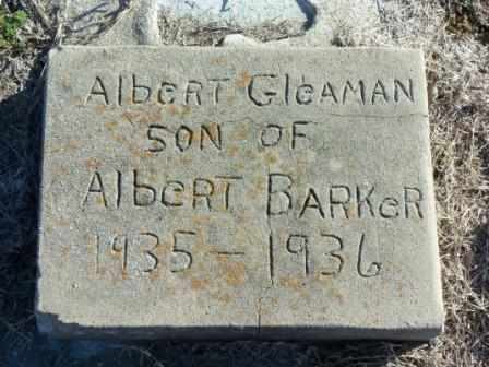 BARKER, ALBERT GLEAMAN - Labette County, Kansas   ALBERT GLEAMAN BARKER - Kansas Gravestone Photos