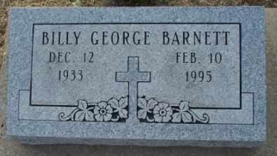 BARNETT, BILLY GEORGE - Labette County, Kansas   BILLY GEORGE BARNETT - Kansas Gravestone Photos