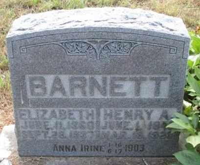 WOOD BARNETT, MARY ELIZABETH - Labette County, Kansas | MARY ELIZABETH WOOD BARNETT - Kansas Gravestone Photos