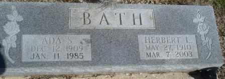BATH, ADA S - Labette County, Kansas | ADA S BATH - Kansas Gravestone Photos