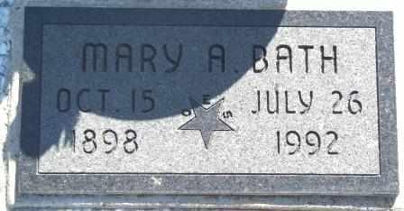 BATH, MARY A - Labette County, Kansas   MARY A BATH - Kansas Gravestone Photos
