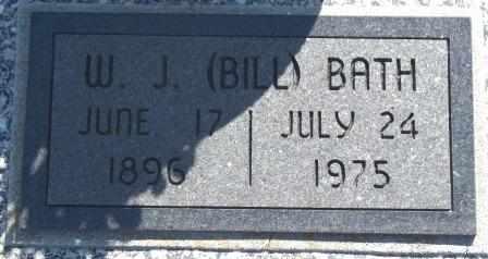 "BATH, W J ""BILL"" - Labette County, Kansas   W J ""BILL"" BATH - Kansas Gravestone Photos"