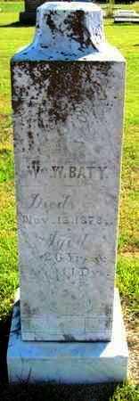 BATY, WILLIAM W - Labette County, Kansas | WILLIAM W BATY - Kansas Gravestone Photos