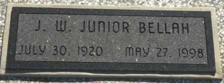 "BELLAH, J W ""JUNIOR"" - Labette County, Kansas | J W ""JUNIOR"" BELLAH - Kansas Gravestone Photos"
