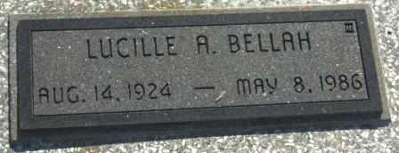 BELLAH, LUCILLE A - Labette County, Kansas | LUCILLE A BELLAH - Kansas Gravestone Photos