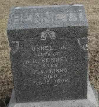 BENNETT, ORRELL J - Labette County, Kansas | ORRELL J BENNETT - Kansas Gravestone Photos